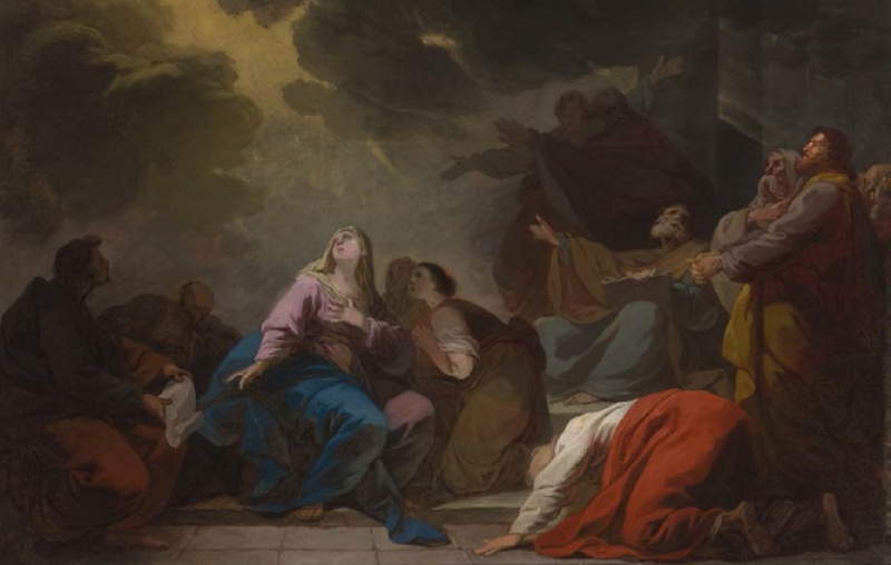La Pentecôte, esquisse, 1772, Joseph Benoît Suvée, MBA Tours