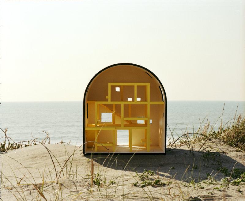 2A+P/A, A house from a drawing of Ettore Sottsass, 2012-17, Marcher dans le rêve d'un autre, FRAC Centre Val-de-Loire