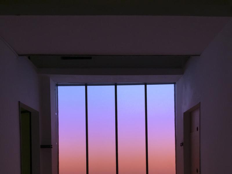 Lucia Koch, Sky X, impression sur polycarbonate, 2016, Marcher dans le rêve d'un autre, FRAC Centre Val-de-Loire