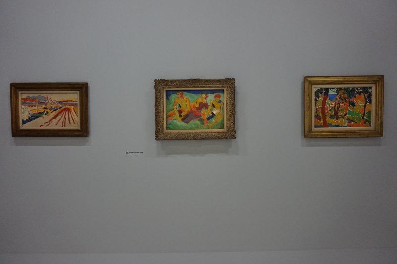 Vue de l'exposition, André Derain, Centre Pompidou