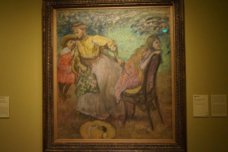 Vue de l'exposition L'art du pastel de Degas à Regon au Petit Palais
