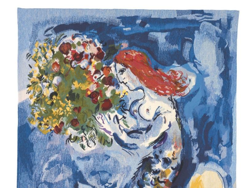 Chagall (d'après) Yvette Cauquil-Prince, maître d'oeuvre La Baie des Anges, 2003, Yvette Cauquil-Prince, musée du Pays de Sarrebourg