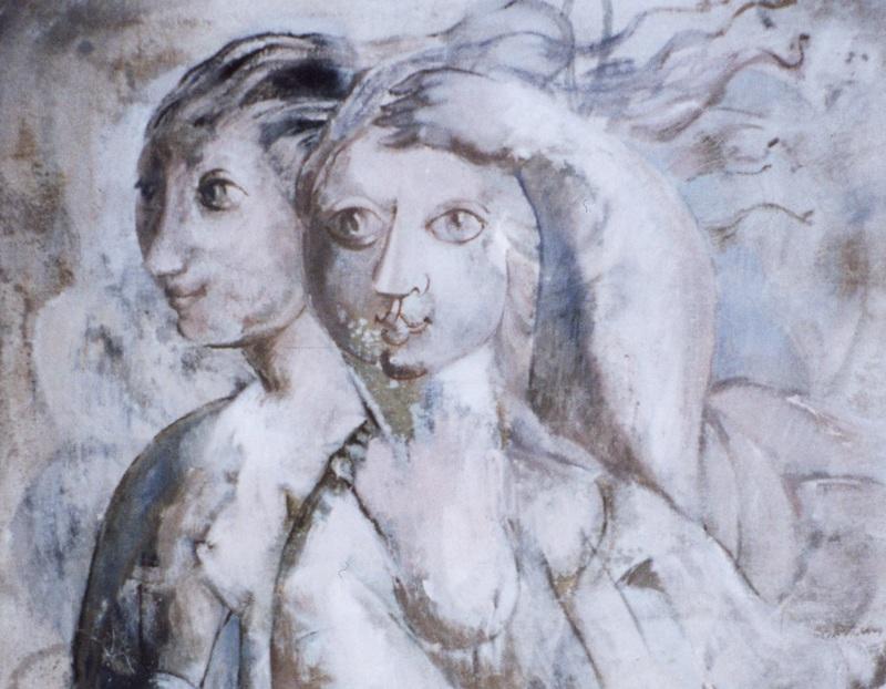 Yvette Cauquil-Prince Deux femmes, 1961-1973, Yvette Cauquil-Prince, musée du Pays de Sarrebourg