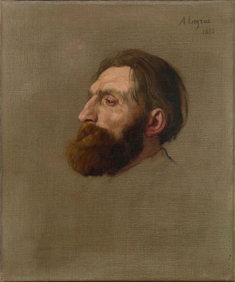 Alphonse Legros, Portrait d'Auguste Rodin, 1882