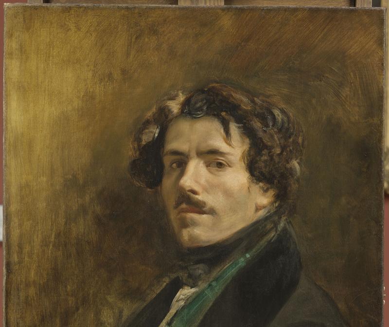 Eugène Delacroix, Autoportrait au gilet vert, Vers 1837.