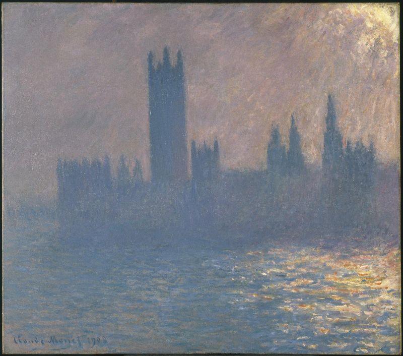 Claude Monet, Le Parlement de Londres, effet de soleil, 1903