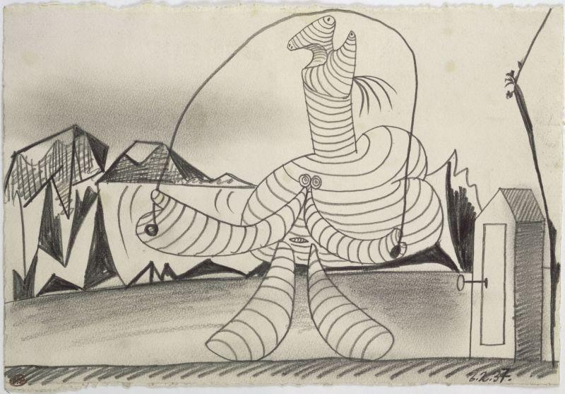 Pablo Picasso, Baigneuse à la cabine sautant à la corde, Collection Peggy Guggenheim, Venise, Italie