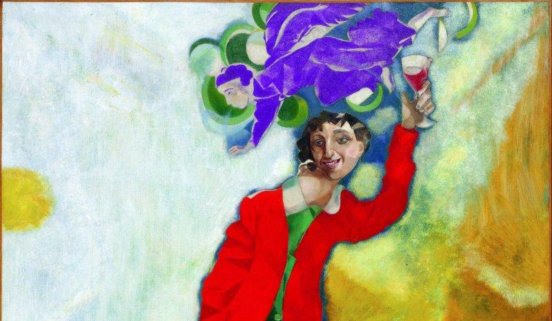 5. Marc Chagall, Double portrait au verrre de vin 1917 1918