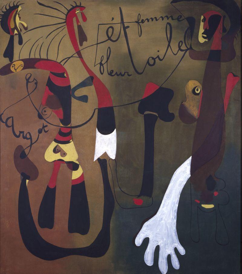 © Successió Miró Adagp, Paris 2018, Photo Museo Nacional Centro de Arte Reina Sofia Escargot, femme, fleur, étoile - Photographic Archives Museo Nacional Centro de Arte Reina Sofia