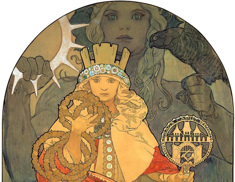 Alphonse Mucha, Étude pour l'affiche du 6ème festival de Sokol, 1911