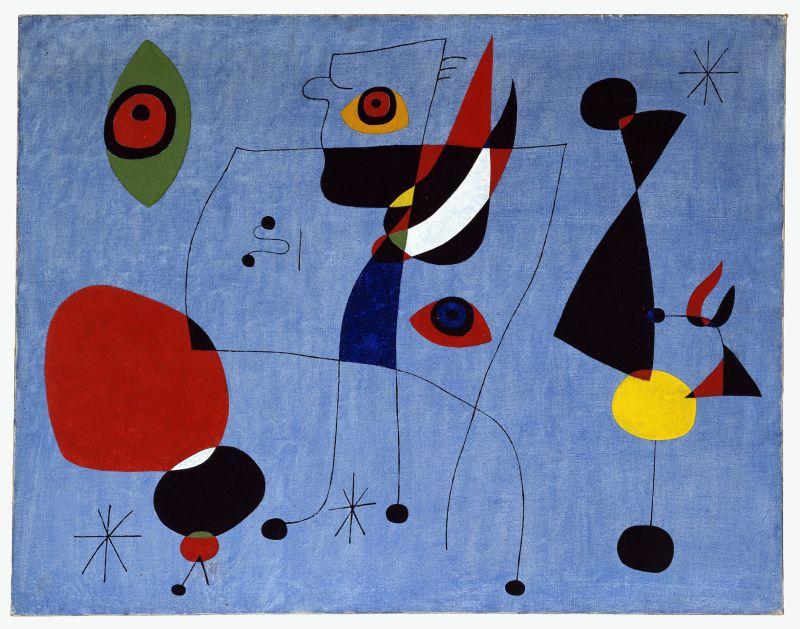 Femmes et oiseaux dans la nuit - © Successió Miró Adagp, Paris 2018Photo Calder Foundation, New York Art Resource, NY.