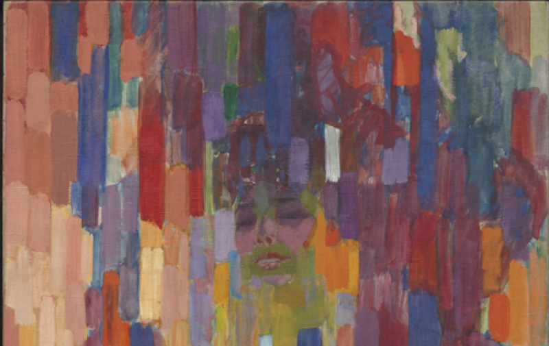 Kupka, Frantisek (1871-1957): Madame Kupka among Verticals, 1910-11 New York Museum of Modern Art (MoMA) *** Permission for usage must be provided in writing from Scala.