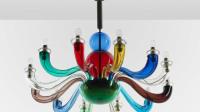 Gio Ponti per Venini, Lustre en verre soufflé polychrome, vers 1980 - Exposition Gio Ponti, un art total à l'italienne au Musée des Arts décoratifs