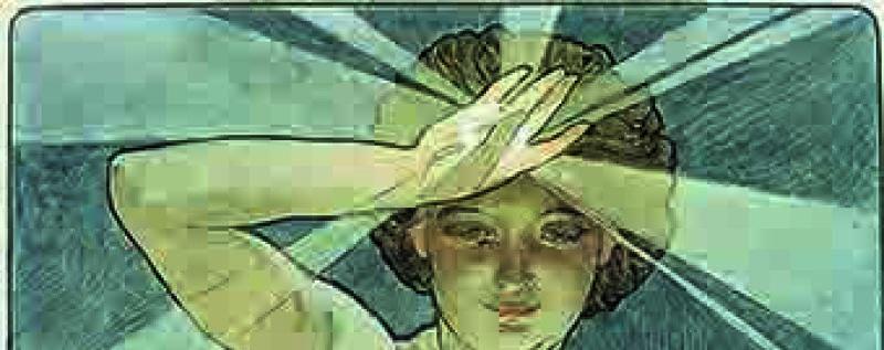 Alphonse Mucha, La Lune et les étoiles : étude pour «L'Etoile du matin», 1902