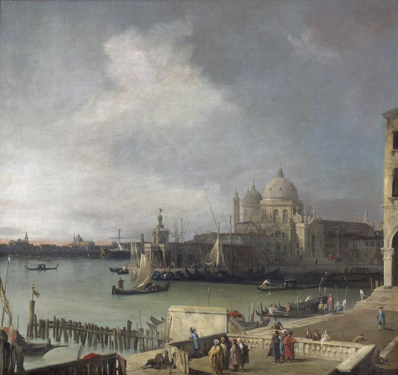 Gianantonio CANALETTO, Le Canal Grande avec la Salutevers, 1726-1728