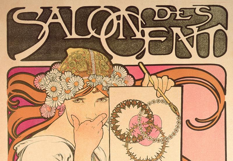 Alphonse Mucha, Salon des Cent : exposition de l'oeuvre de Mucha, 1897