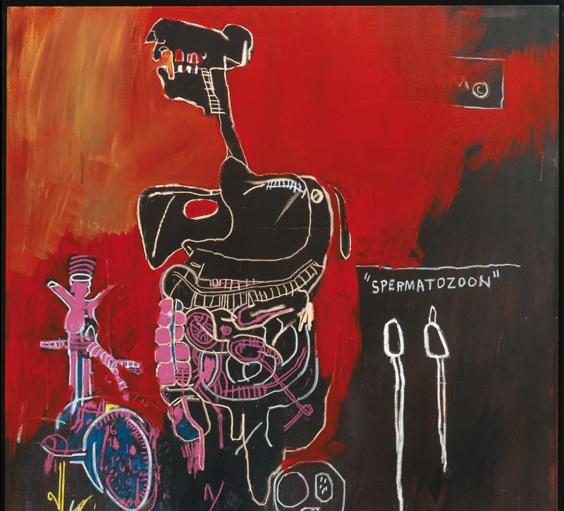 Untitled [Spermatozoon], Jean-Michel Basquiat, 1983, Libres figurations, FHEL Landerneau
