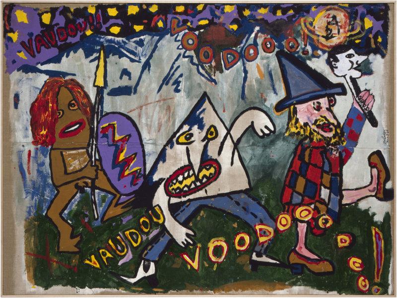 Vaudou, Voudou, Robert Combas, 1981 - Galerie Bruno Bischofberger, Libres figurations, FHEL Landerneau