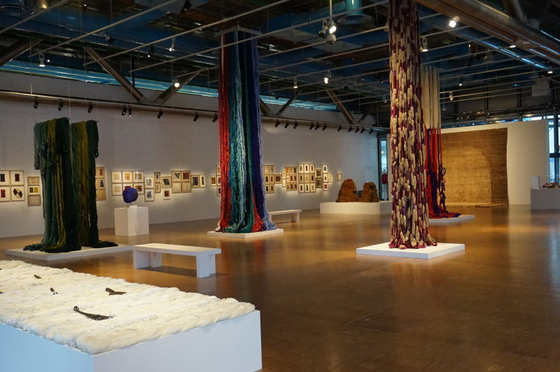 Vue de l'exposition Sheila Hicks, Lignes de vie - Centre Pompidou (125)