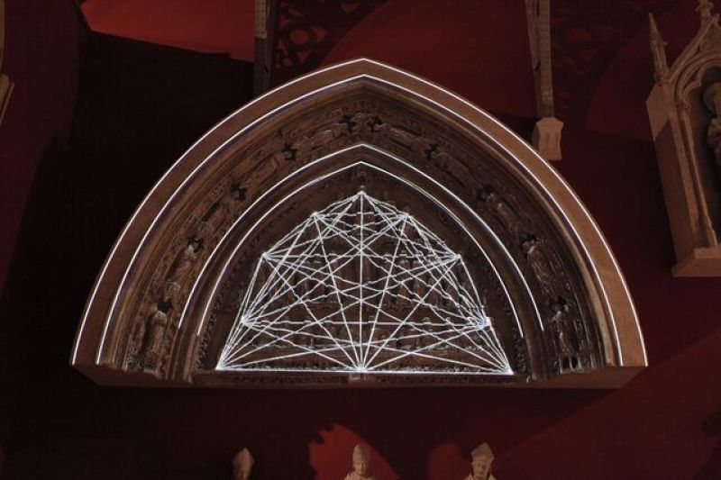 Vue des Collections permanentes de la Cité de l'Architecture - Mapping