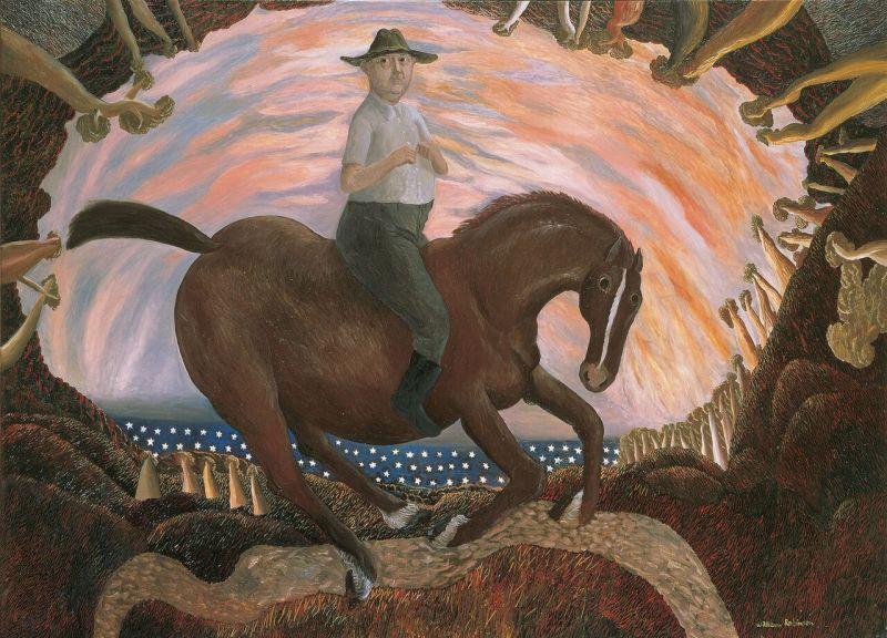 Equestrian self portrait,1987