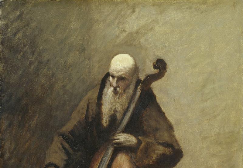 GemÑlde / ôl auf Leinwand (1874) von  <br> Jean-Baptiste Camille Corot  [1796 - 1875] <br> Bildma· 72,5 x 51 cm <br> Inventar-Nr.: 2411 <br> Systematik:  <br> Kulturgeschichte / Kirchliches Leben / Mînche