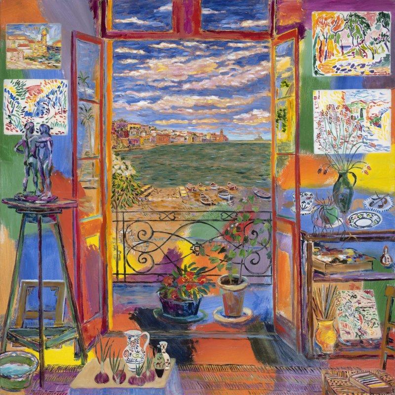 Matisse's studio (Collioure, 1905) © Damian Elwes