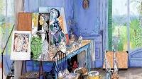 Picasso, Villa Californie, panneau 3 © Damian Elwes - Ateliers à la loupe