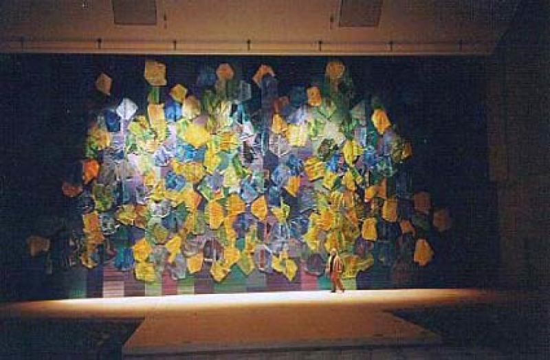 Sheila Hicks, Kiryu Cultural Center Stage Curtain, Flowering Future-Doncho