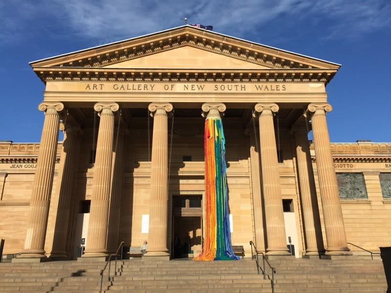 Sheila Hicks, The Questioning Column, 2016 - Sydney Biennale