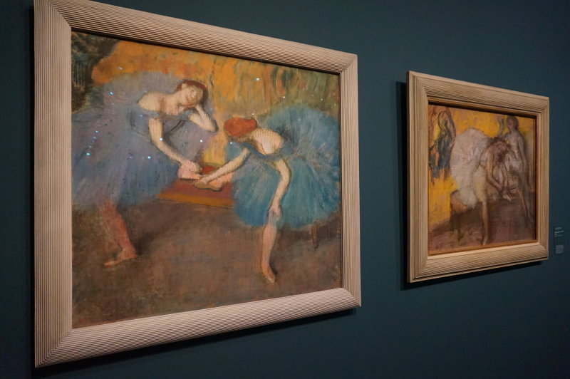 Vue de l'exposition Degas Danse Dessin au Musée d'Orsay