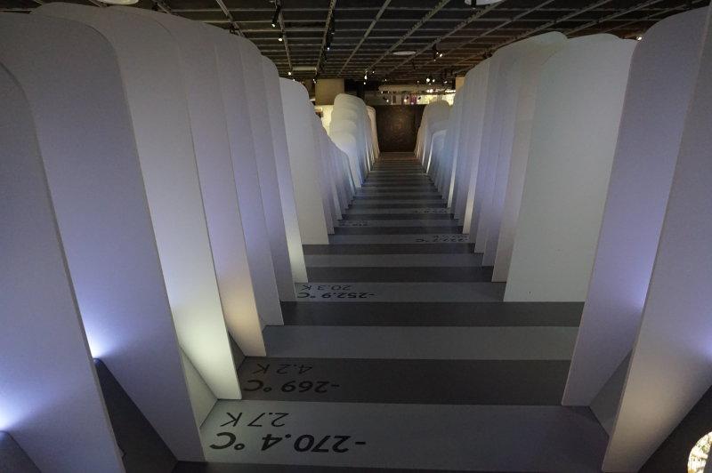 Vue de l'exposition Froid à la Cité des Sciences