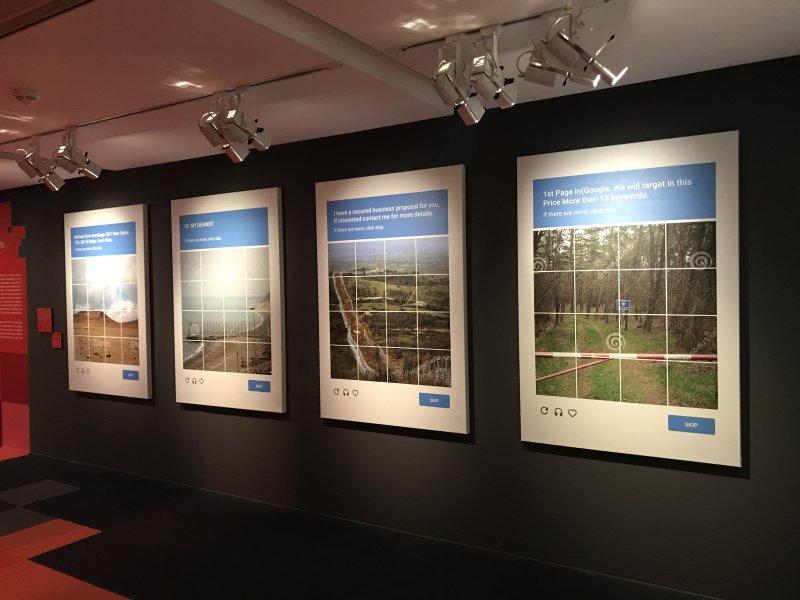 Vue de l'exposition La Belle Vie Numérique à la Fondation EDF
