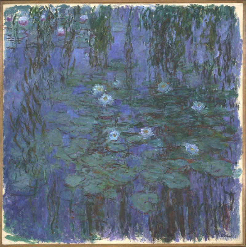 01. Nympheas. Claude Monet - Nympheas bleus, 1916-1919