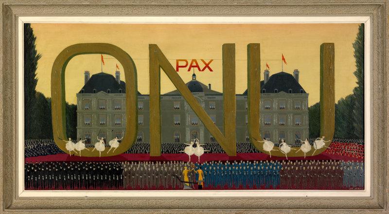 Louis-Auguste Dechelette, Le Grand soir, 1ère conférence de l'O.N.U, 1946, FNAC 28785, Centre national des arts plastiques