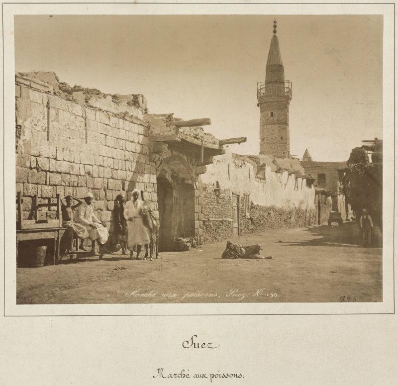 Hippolyte Arnoux, Suez. Marché aux poissons, seconde moitié du XIXe siècle