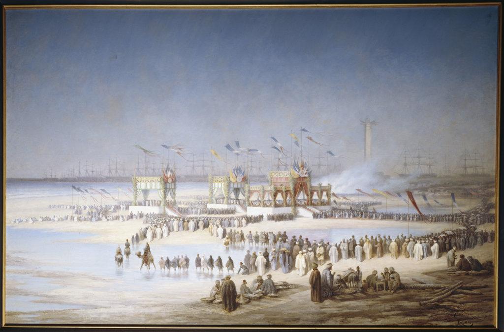 Edouard Riou, Cérémonie d'inauguration du canal de Suez à Port-Saïd, le 17 novembre 1869