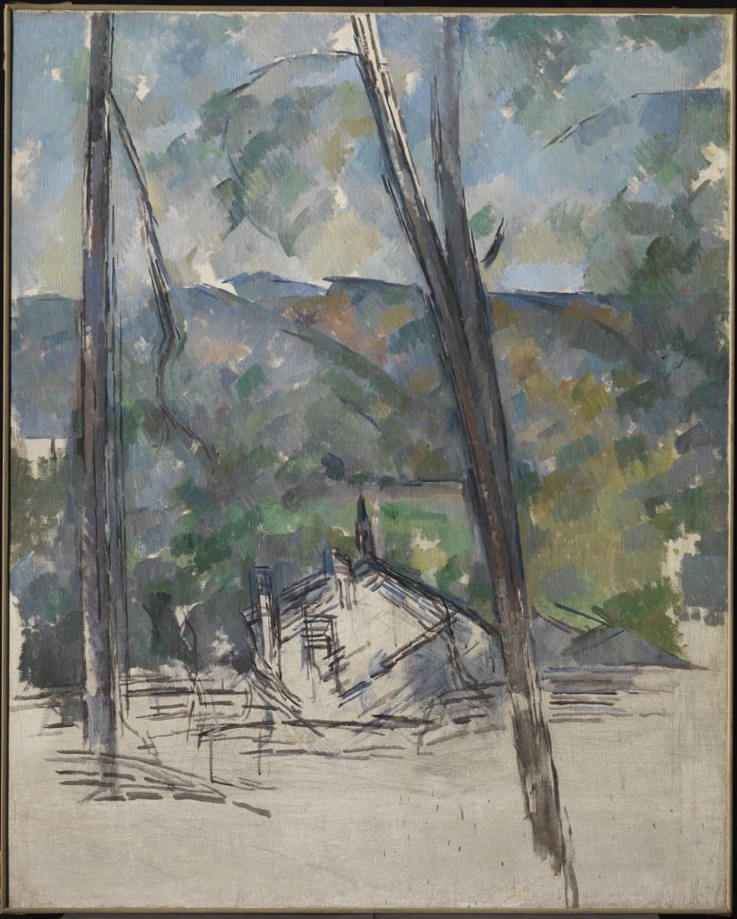 Paul Cézanne, Vue vers la route du Tholonet près du Château Noir, 1900-1904