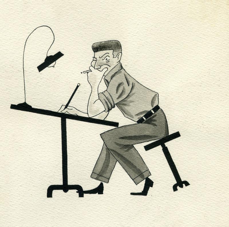 Autoportrait René Goscinn, New York 1948