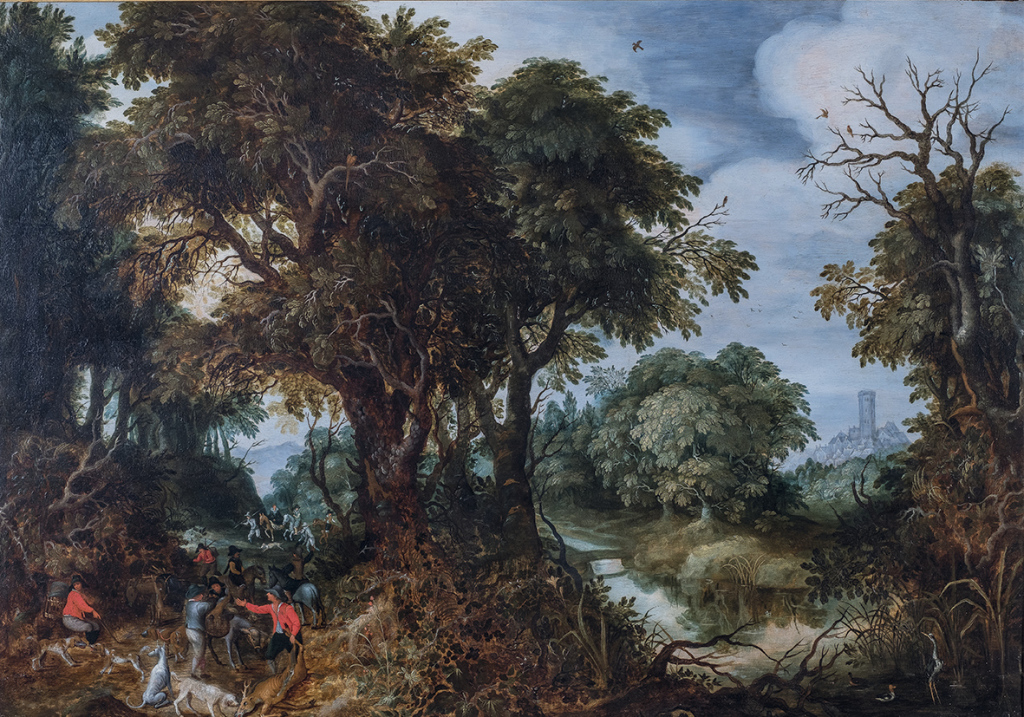 Abraham Govaerts, Scène de chasse, 17e siècle