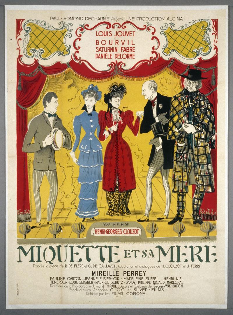 Affiche de Miquette et sa mère d'Henri Georges Clouzot, 1950. Auteur Jean-Denis Malclès, 1949