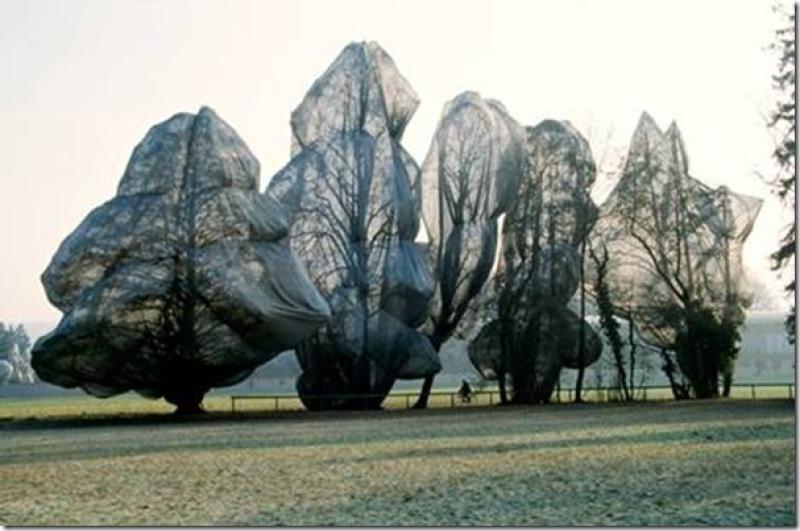 Christo, arbres enveloppés, 1998