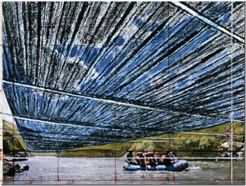 Christo et Jeanne-Claude, la rivière de Arkansas (2)