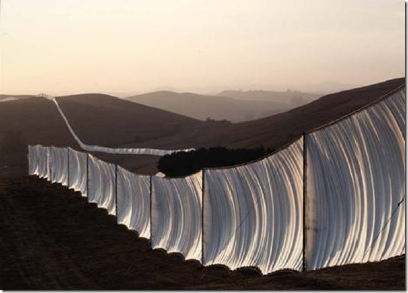 Christo et Jeanne-Claude, Running Fence en Californie, 1976
