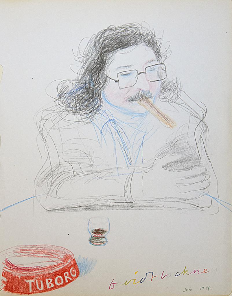 David Hockney, Pierre Restany, 1974