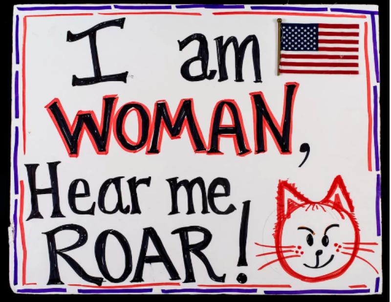 Elaine Maas, pour la Women's March de New York (2017) © The New-York Historical Society, tous droits réservés.
