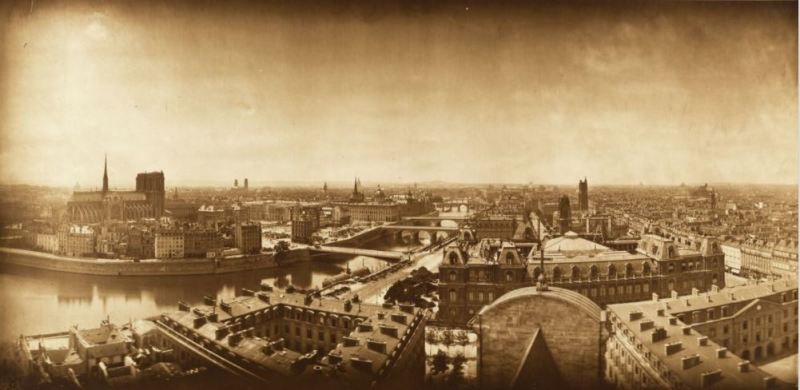 Adolphe Braun, Panorama de Paris. L'Île de la Cité, l'Hôtel de Ville 1867