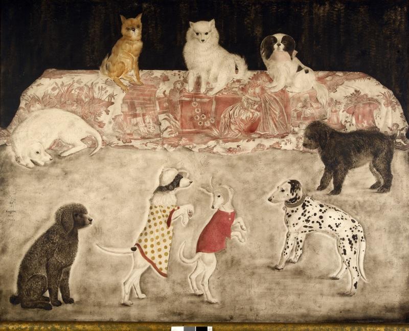 Foujita, Carnaval des chiens, 1922