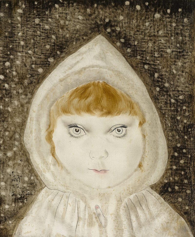 Foujita, Petite fille au capuchon, 1929