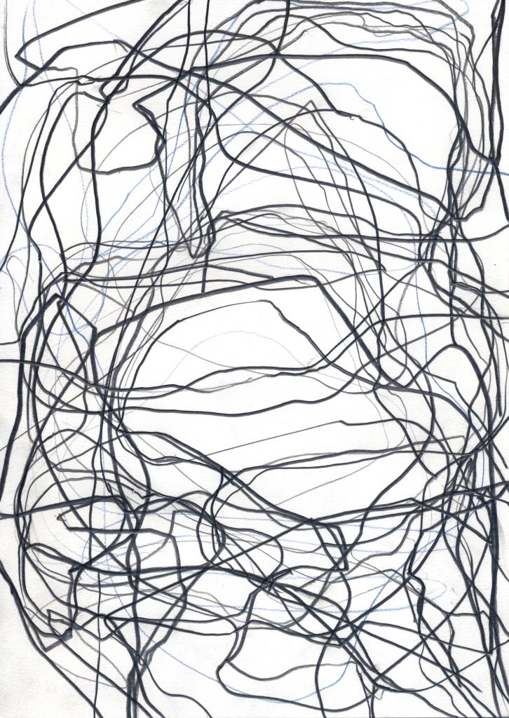 Gilgian Gelzer, Sans titre, 2015-2017. Graphite et crayons de couleur sur papier, 29,7 x 21 cm